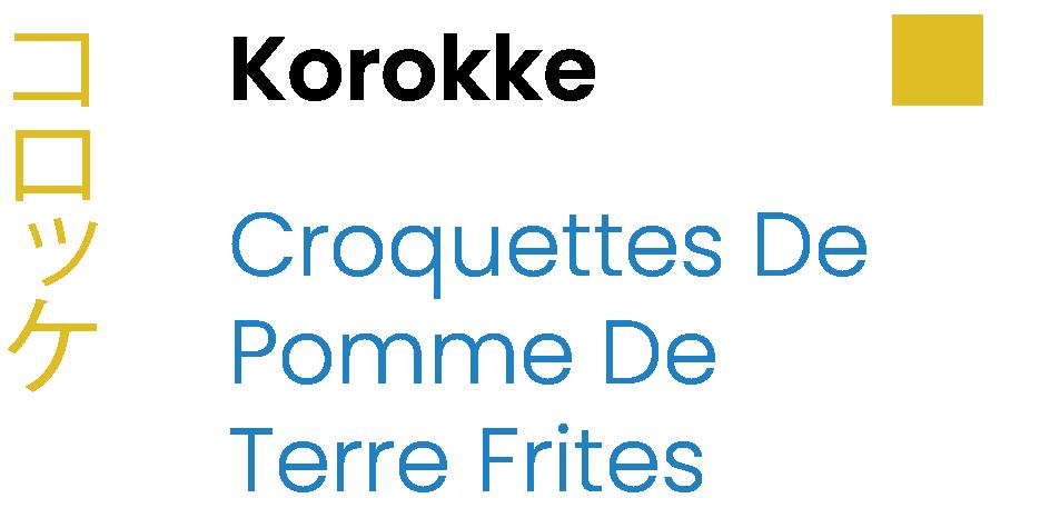 Korokke Deep Fried Potato Croquettes